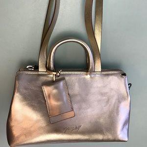 Gold leather Marsell bag,  Longer strap- crossbody